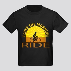 i love the morning ride Kids Dark T-Shirt
