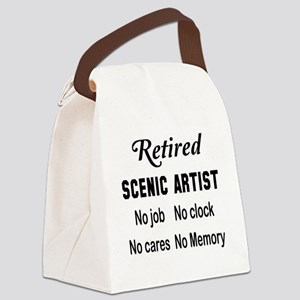 Retired Scenic artist Canvas Lunch Bag