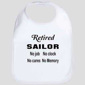 Retired Sailor Cotton Baby Bib