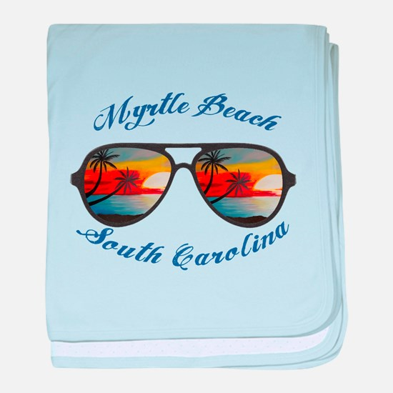 South Carolina - Myrtle Beach baby blanket