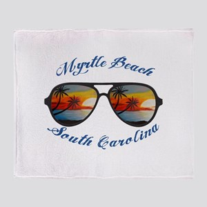South Carolina - Myrtle Beach Throw Blanket