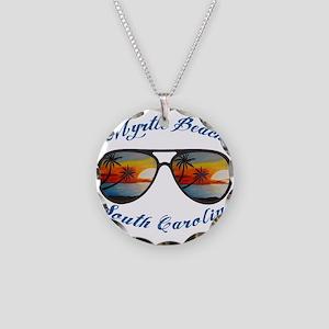 South Carolina - Myrtle Beac Necklace Circle Charm