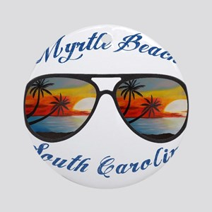 South Carolina - Myrtle Beach Round Ornament