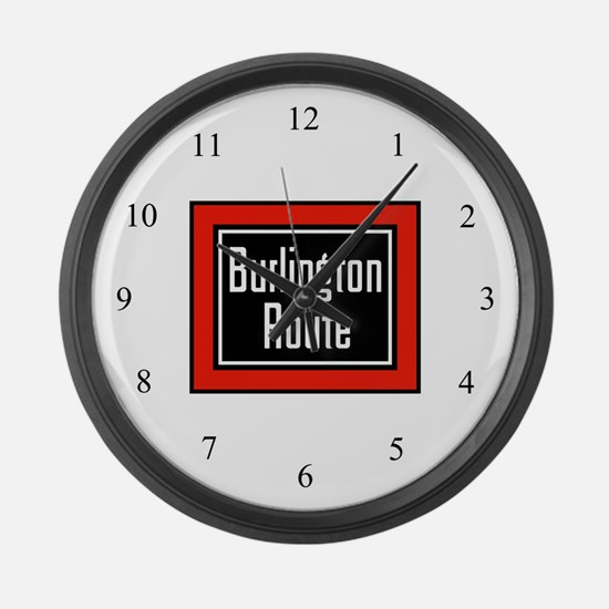 Burlington Route Large Wall Clock