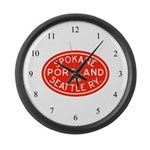 SP&S Large Wall Clock