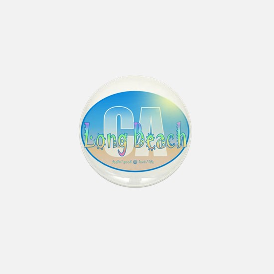 Cute Long beach california Mini Button