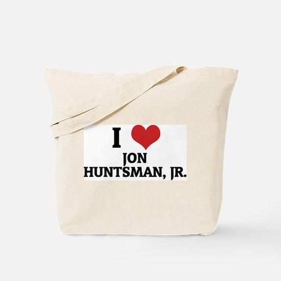 I Love Jon Huntsman, Jr. Tote Bag