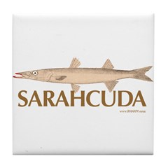 Sarahcuda the Lipstick Cuda Tile Coaster