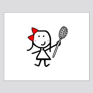 Girl & Lacrosse Small Poster