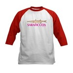 Lipstick SarahCuda in Hot Pink Kids Baseball Jerse