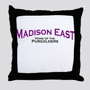 Madison East Purgolders Throw Pillow