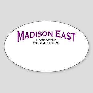 Madison East Purgolders Oval Sticker
