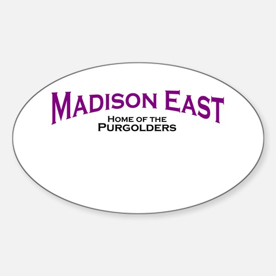 Madison East Purgolders Oval Decal