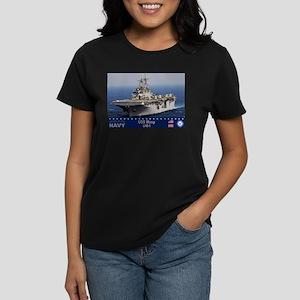 USS Wasp LHD-1 Women's Dark T-Shirt