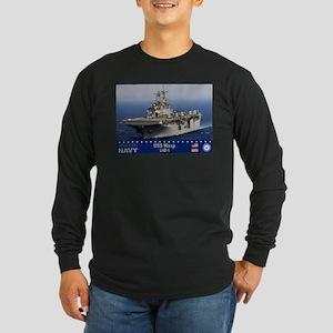 USS Wasp LHD-1 Long Sleeve Dark T-Shirt