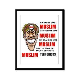 NOT MUSLIM? Framed Panel Print