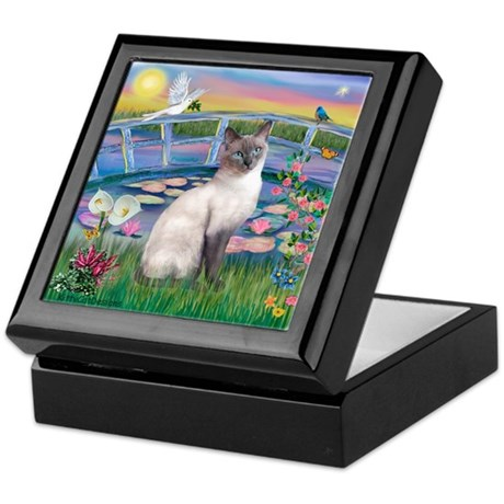Lilies(JF)/Siamese Cat 24 ( Keepsake Box