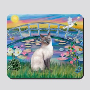 Lilies(JF)/Siamese Cat 24 ( Mousepad