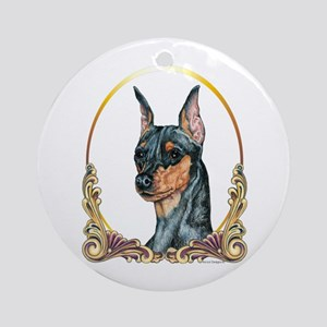 Miniature Pinscher Christmas Ornament (Round)