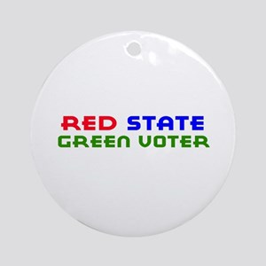 Red State Green Voter Ornament (Round)