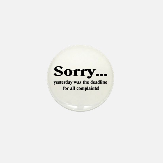 Sorry Mini Button