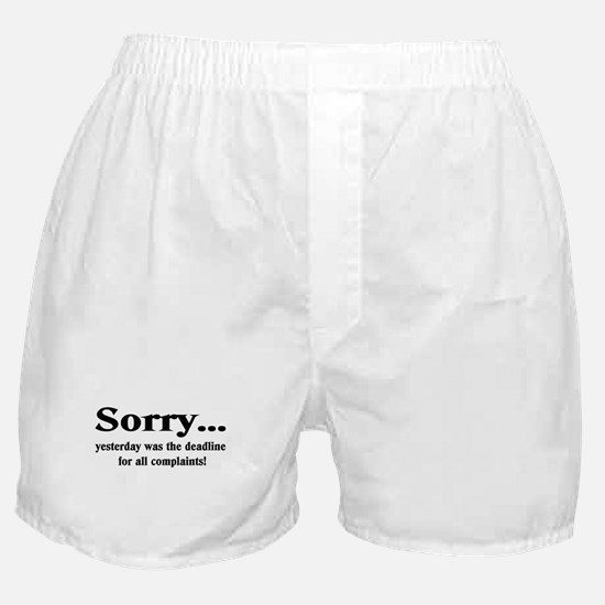 Sorry Boxer Shorts