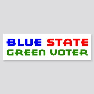 Blue State Green Voter Bumper Sticker