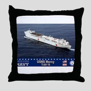 USNS Mercy T-AH-19 Throw Pillow
