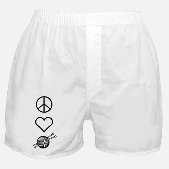 Peace Love Knit Boxer Shorts