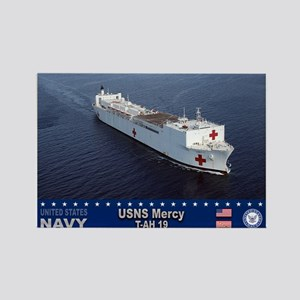 USNS Mercy T-AH-19 Rectangle Magnet