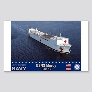 USNS Mercy T-AH-19 Rectangle Sticker