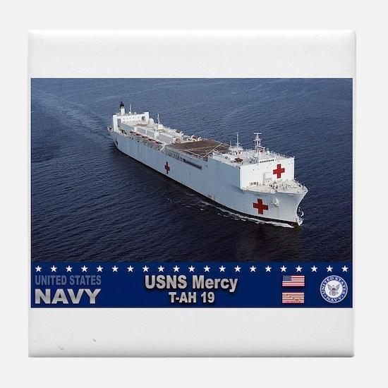 USNS Mercy T-AH-19 Tile Coaster