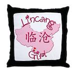 Lincang Girl Throw Pillow