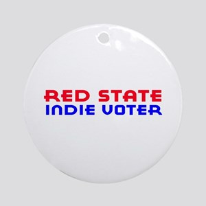 Red State Indie Voter Ornament (Round)