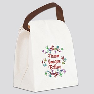 Dream Imagine Believe Canvas Lunch Bag