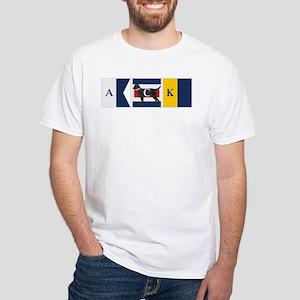 Preppy Lab Dog ACK Signal Flag T-Shirt