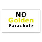No Golden Parachute Rectangle Sticker 50 pk)