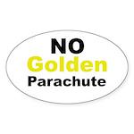 No Golden Parachute Oval Sticker (50 pk)