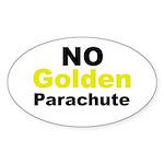 No Golden Parachute Oval Sticker (10 pk)