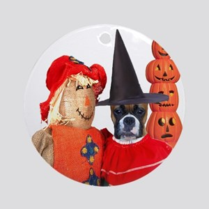 Halloween Boxer Ornament (Round)