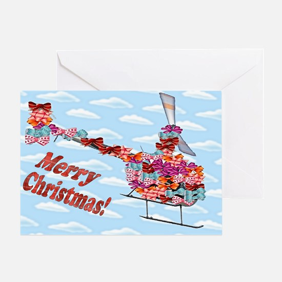 Helicopter Christmas Gift Greeting Card