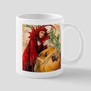 Halloween Lady Devil & Goblins Coffee Mug