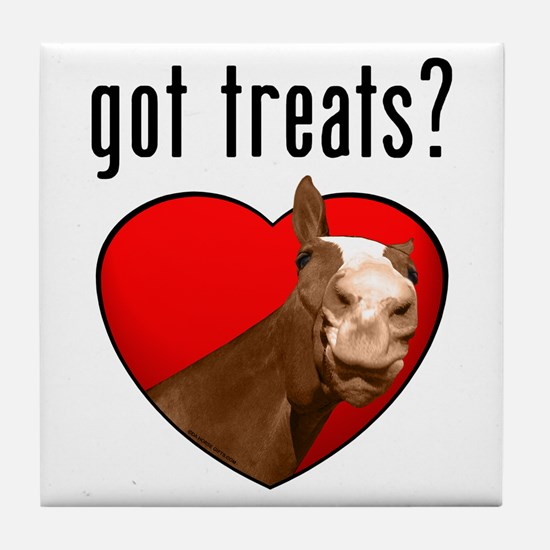 Got Treats? Cute Horse Tile Coaster