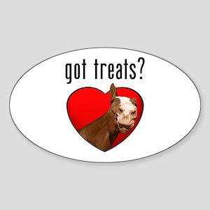 Got Treats? Cute Horse Oval Sticker