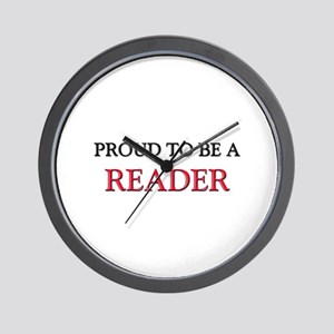 Proud to be a Reader Wall Clock