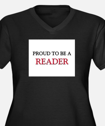 Proud to be a Reader Women's Plus Size V-Neck Dark