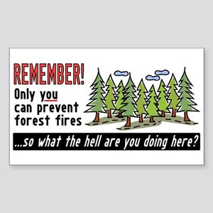 Forest Fires Rectangle Sticker