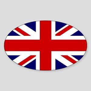 Union Jack/UK Flag Oval Sticker