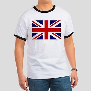 Union Jack/UK Flag Ringer T