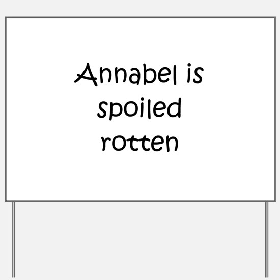 Annabel Yard Sign